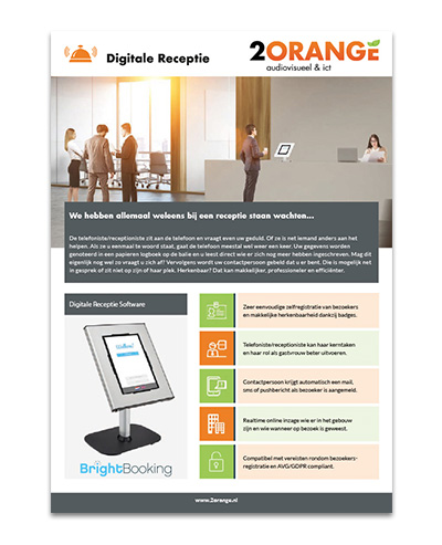 2Orange Digitale Receptie
