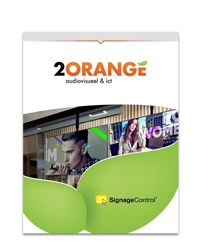 2Orange Signage Control Narrowcasting Brochure
