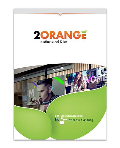 2Orange Tic Narrowcasting brochure
